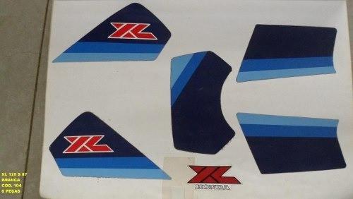 Faixa Xls 125 87 - Moto Cor Branca (104 - Kit Adesivos)