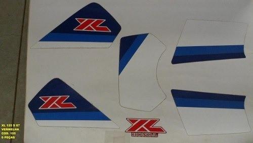 Faixa Xls 125 87 - Moto Cor Vermelha (105 - Kit Adesivos)