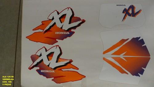 Faixa Xls 125 96 - Moto Cor Vermelha - Kit 196