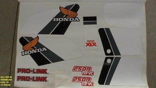 Faixa Xlx 250 84 - Moto Cor Vermelha (79 - Kit Adesivos)
