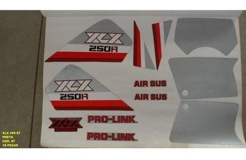 Faixa Xlx 250 87 - Moto Cor Preta (87 - Kit Adesivos)