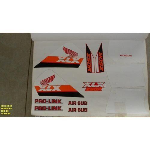 Faixa Xlx 250 88 - Moto Cor Vermelha (89 - Kit Adesivos)