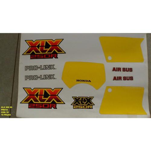 Faixa Xlx 250 89 - Moto Cor Preta (91 - Kit Adesivos)