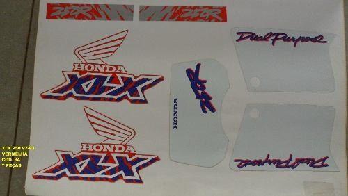 Faixa Xlx 250 92/03 - Moto Cor Vermelha (94 - Kit Adesivos)