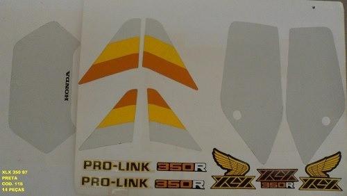 Faixa Xlx 350 87 - Moto Cor Preta (115 - Kit Adesivos)