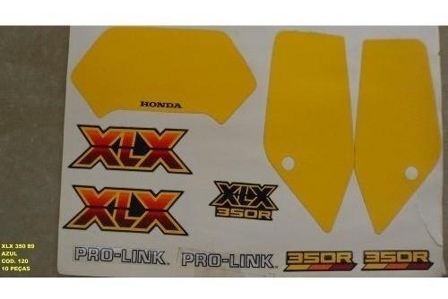 Faixa Xlx 350 89 - Moto Cor Azul (120 - Kit Adesivos)
