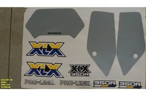 Faixa Xlx 350 90 - Moto Cor Azul (122 - Kit Adesivos)