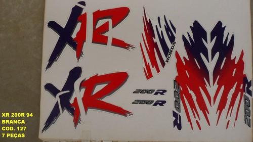 Faixa Xr 200 94 - Moto Cor Branca (127 - Kit Adesivos)