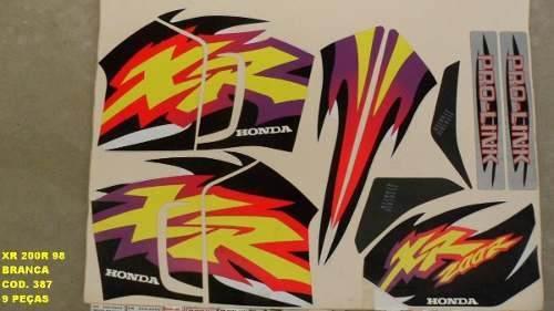 Faixa Xr 200 98 - Moto Cor Branca (387 - Kit Adesivos)