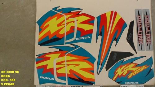 Faixa Xr 200 98 - Moto Cor Roxa - Kit 388
