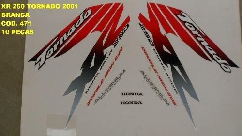 Faixa Xr 250 Tornado 01 - Moto Cor Branca - Kit 471