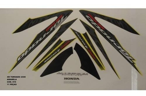 Faixa Xr 250 Tornado 08 - Moto Cor Amarela - Kit 819