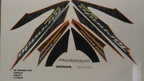 Faixa Xr 250 Tornado 08 - Moto Cor Laranja - Kit 821