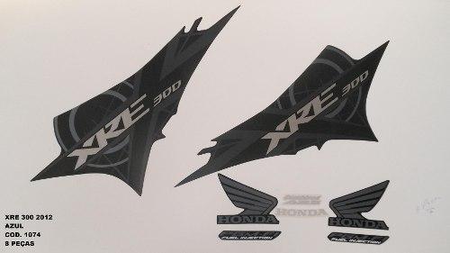 Faixa Xre 300 12 - Moto Cor Azul (1074 - Kit Adesivos)