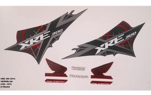 Faixa Xre 300 12 - Moto Cor Vermelha (1072 - Kit Adesivos)