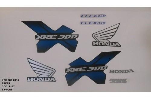 Faixa Xre 300 15 - Moto Cor Preta (1197 - Kit Adesivos)