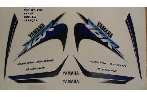 Faixa Ybr 125 00 - Moto Cor Prata (443 - Kit Adesivos)