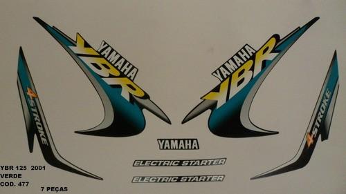 Faixa Ybr 125 01 - Moto Cor Verde (477 - Kit Adesivos)