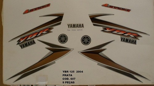 Faixa Ybr 125 04 - Moto Cor Prata (607 - Kit Adesivos)