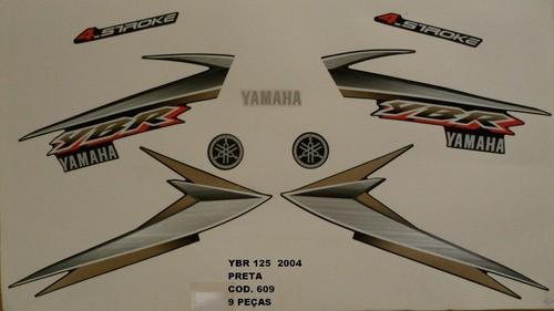 Faixa Ybr 125 04 - Moto Cor Preta (609 - Kit Adesivos)