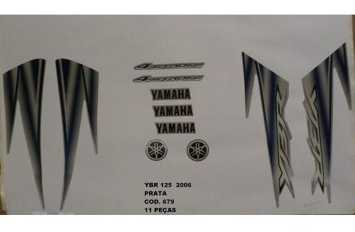 Faixa Ybr 125 06 - Moto Cor Prata (679 - Kit Adesivos)