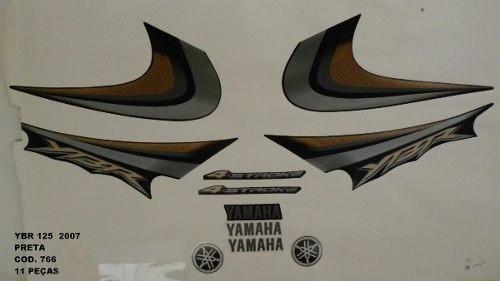 Faixa Ybr 125 07 - Moto Cor Preta (766 - Kit Adesivos)