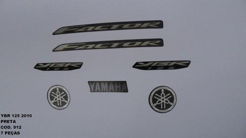 Faixa Ybr 125 10 - Moto Cor Preta (912 - Kit Adesivos)