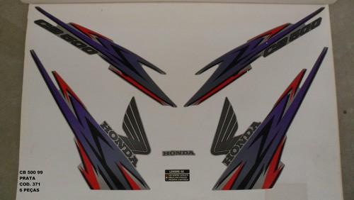 Faixas Cb 500 99 - Moto Cor Prata (371 - Kit Adesivos)
