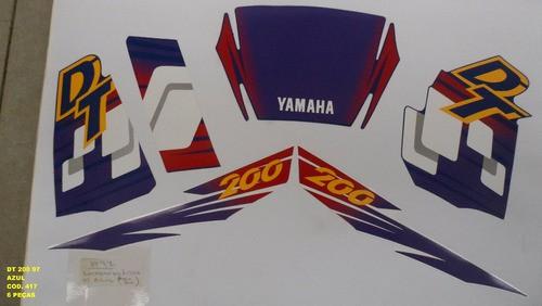 Faixas Dt 200 97 - Moto Cor Azul (417 - Kit Adesivos)