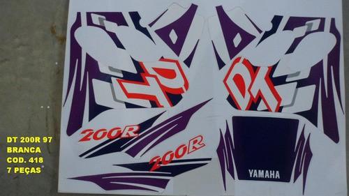 Faixas Dt 200r 97 - Moto Cor Branca (418 - Kit Adesivos)