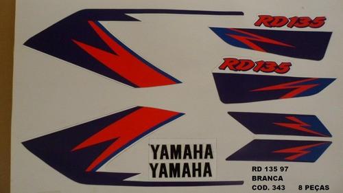 Faixas Rd 135 97 - Moto Cor Branca (343 - Kit Adesivos)