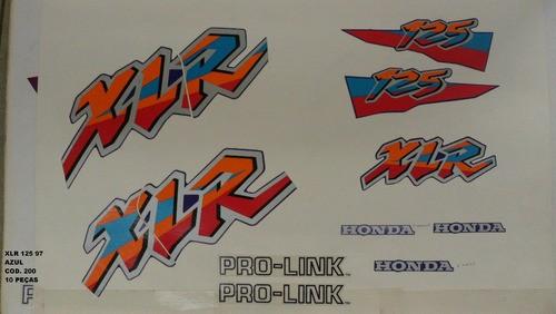 Faixas Xlr 125 97 - Moto Cor Azul - Kit 200