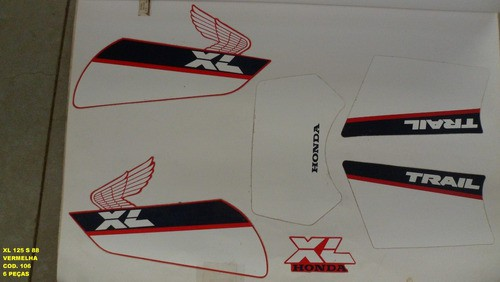 Faixas Xls 125 88 - Moto Cor Vermelha -kit 106