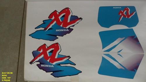 Faixas Xls 125 96 - Moto Cor Azul (197 - Kit Adesivos)