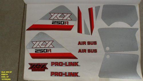 Faixas Xlx 250 87 - Moto Cor Preta (87 - Kit Adesivos)