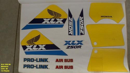 Faixas Xlx 250 88 - Moto Cor Branca (88 - Kit Adesivos)