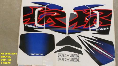 Faixas Xr 200 01 - Moto Cor Branca (468 - Kit Adesivos)