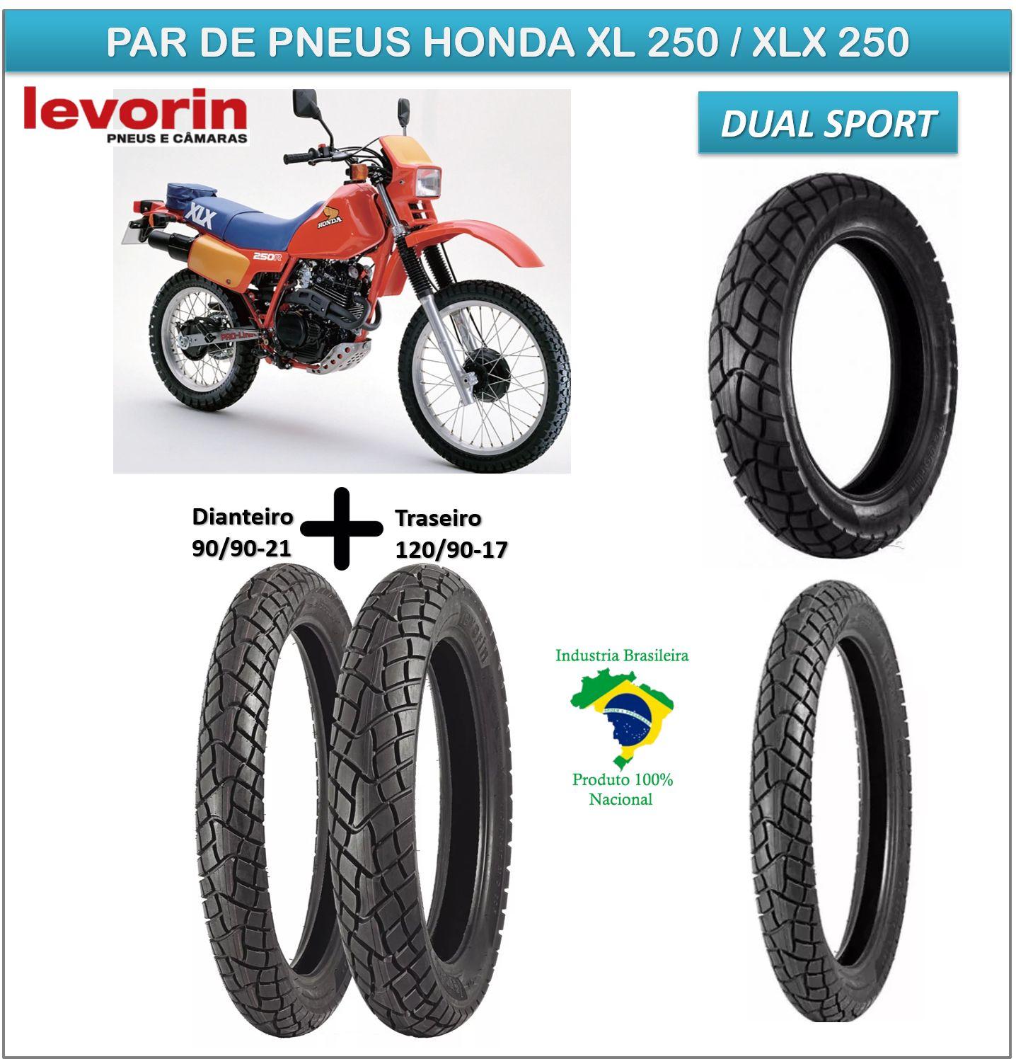 Honda Xl 250 / Xlx 250 Pneu Dianteiro Traseiro Dual Sport