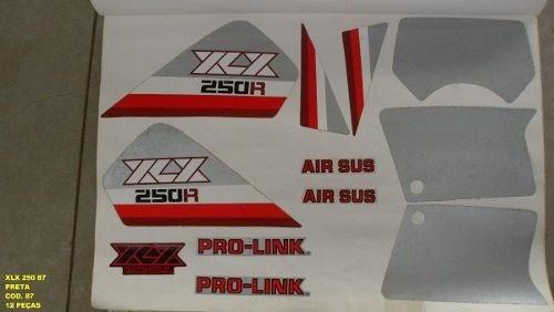 Kit Adesivos Xlx 250 87 - Moto Cor Preta (87 - Kit Adesivos)