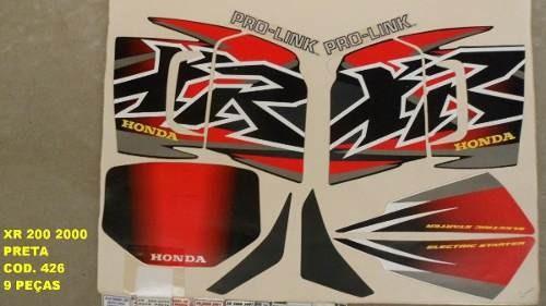 Kit Adesivos Xr 200 00 - Moto Cor Preta (426 - )