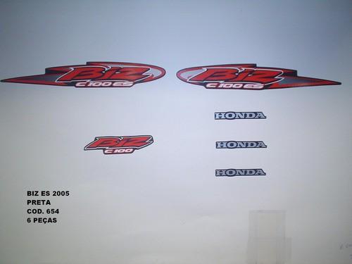 Kit De Adesivos Biz 100 Es 05 - Moto Cor Preta - 654