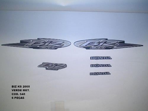 Kit De Adesivos Biz 100 Ks 05 Moto Cor Verde Metalico - 648