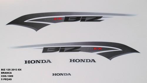 Kit De Adesivos Biz 125 Ex 13 - Moto Cor Branca 1089