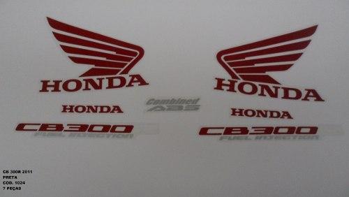 Kit De Adesivos Cb 300r 11 - Moto Cor Preta - 1024