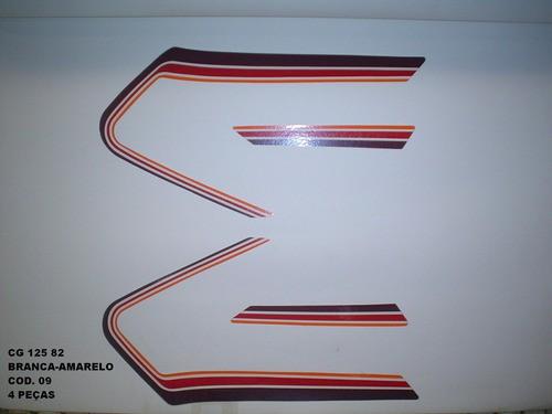 Kit De Adesivos Cg 125 82 - Moto Cor Branca/amarela 9