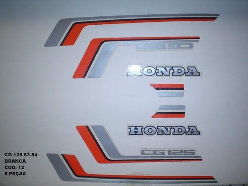 Kit De Adesivos Cg 125 83/84 - Moto Cor Branca 12
