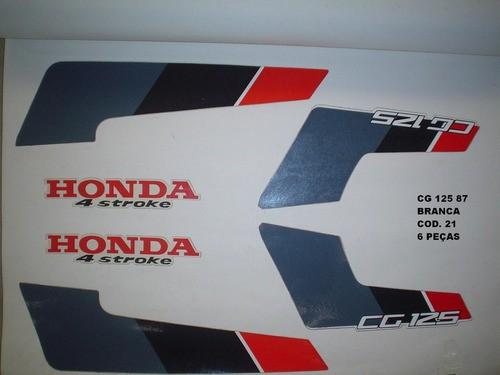 Kit De Adesivos Cg 125 87 - Moto Cor Branca (21 - Adesivos)