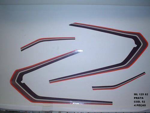 Kit De Adesivos Cg 125 Ml 82 - Moto Cor Prata 52