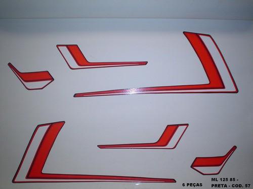 Kit De Adesivos Cg 125 Ml 85 - Moto Cor Preta - 57