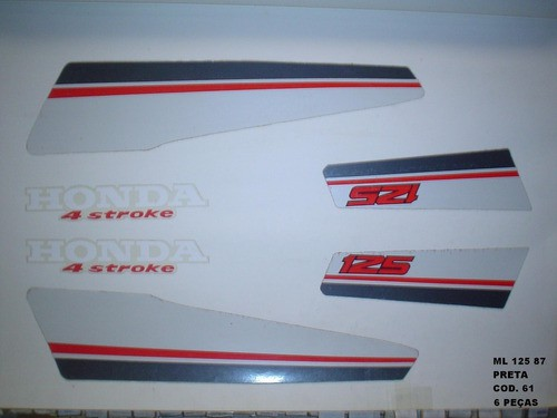 Kit De Adesivos Cg 125 Ml 87 - Moto Cor Preta 61